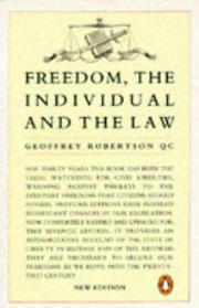 Cover of: Freedom, the Individual and the Law