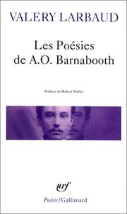Cover of: Les poésies de A. O. Barnabooth