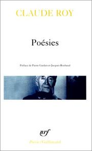 Cover of: Poésies