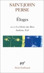 Cover of: ElogesSuivi de; La Gloire des Rois, Anabase; Exil (Collection Poesie)