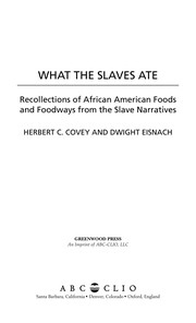 What the slaves ate