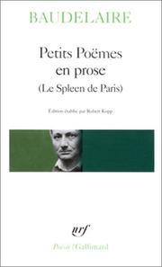Cover of: Petits Poemes en Prose  Le Spleen de Paris