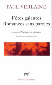 Cover of: Fetes Galantes/Romances Sans Paroles/Poemes Saturniens