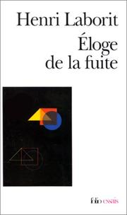 Cover of: Eloge de la fuite