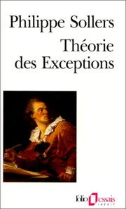 Cover of: Théorie des exceptions | Philippe Sollers