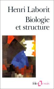 Cover of: Biologie et structure