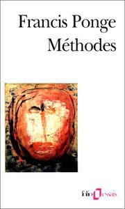 Cover of: Méthodes