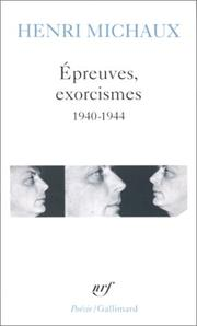 Cover of: Epreuves Exorcismes
