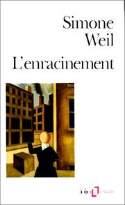 Cover of: L'Enracinement