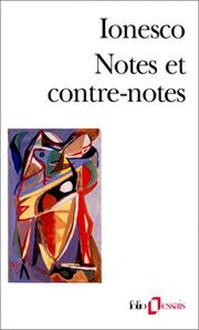 Cover of: Notes et contre-notes