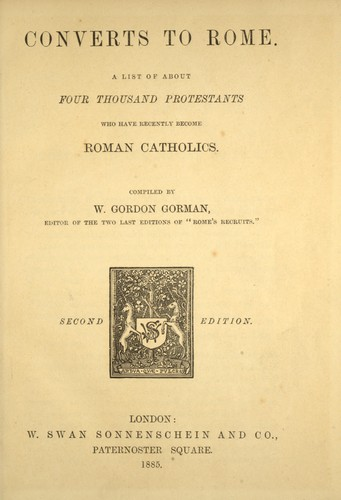 Converts to Rome by William James Gordon-Gorman