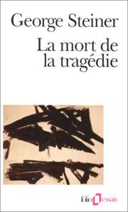 Cover of: La mort de la tragédie