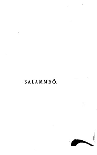 Salammbô 1886 Edition Open Library