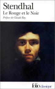 Cover of: Le Rouge Et Le Noir | Stendhal