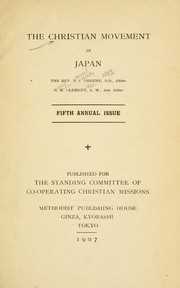 Cover of: The Christian movement in Japan | Co-operating Christian Missions. Standing Committee