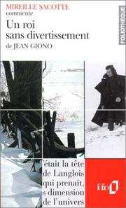 Cover of: Un roi sans divertissement de Jean Giono