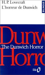 Cover of: The Dunwich Horror - L'Horreur de Dunwich