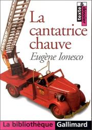 Cover of: LA Cantatrice Chauve