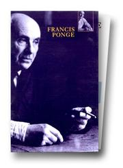 Cover of: Le Parti pris des choses - La Rage de l'expression - Pièces