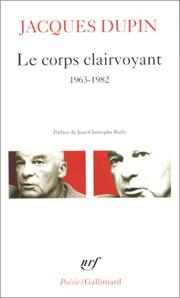 Cover of: Le Corps Clairvoyant