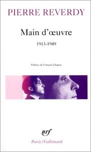 Cover of: Main-d'oeuvre, 1913-1949