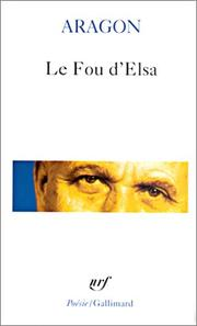 Cover of: Le Fou d'Elsa | Aragon