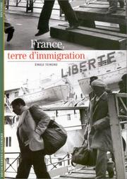 Cover of: France, terre d'immigration