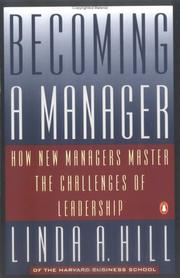 Cover of: Becoming a Manager | Linda H. Hill