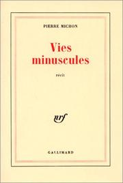 Cover of: Vies minuscules