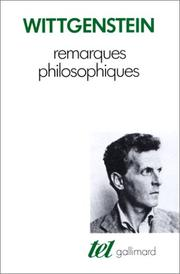 Cover of: Remarques philosophiques