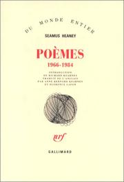 Cover of: Poèmes, 1966-1984