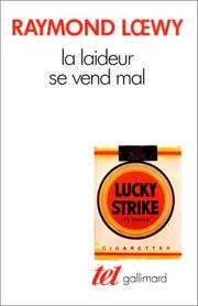 Cover of: La Laideur se vend mal