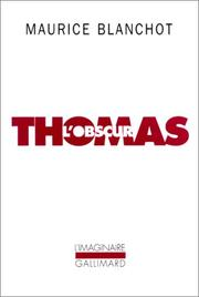 Cover of: Thomas l'obscur