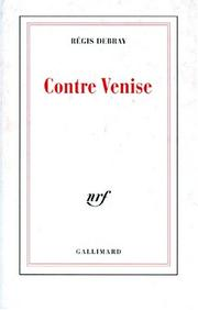 Cover of: Contre Venise