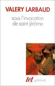 Cover of: Sous l'invocation de saint Jérôme