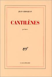 Cover of: Cantilènes