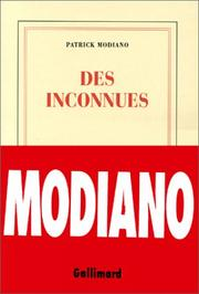 Cover of: Des inconnues