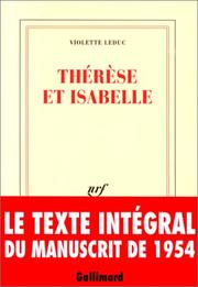 Cover of: Therese et Isabelle