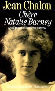 Cover of: Chère Natalie Barney