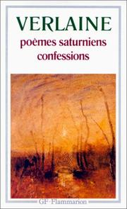 Cover of: Poemes Saturniens / Confessions