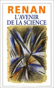 Cover of: L' avenir de la science