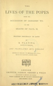 Cover of: The lives of the Popes by Platina