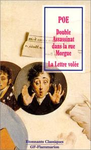 Cover of: Double assassinat dans la rue - Morgue - La Lettre volée