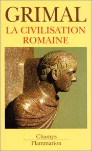 Cover of: La civilisation romaine