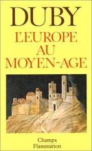 Cover of: L'Europe au Moyen Age