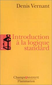 Cover of: Introduction à la logique standard