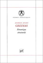 Cover of: Semantique Structurale