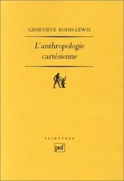 Cover of: L' anthropologie cartésienne