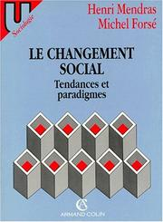 Cover of: Le changement social