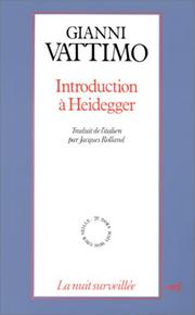 Cover of: Introduction à Heidegger
